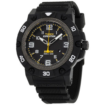 Timex Expedition Field Shock Black Dial Resin Strap Men's Watch TW4B01000
