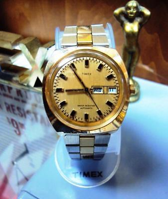 Vintage 1973 Timex Automatic Day Date Watch - Expert Servicing -