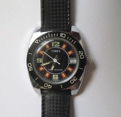Vintage Timex Scuba Diving Diver Wind-Up Wristwatch Watch