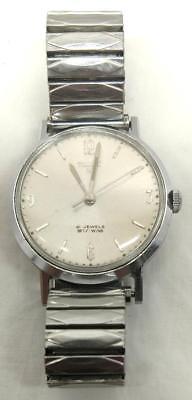 Timex 21 Jewels Self-Wind Stainless Wrist Watch w/ Flex Band