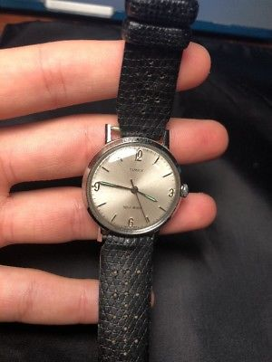 Vintage Mens 1964 Timex original Marlin dial lumi  handwind watch serviced