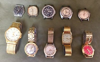 LOT 10 Vintage Watches TIMEX ARMITRON And Others Quartz Automatic Others READ