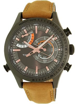 Timex Men's Intelligent Quartz TW2P72500 Guava Leather Analog Dress Watch