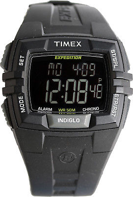 Timex Men's T49900 Expedition Rugged Wide Digital All Black Watch New
