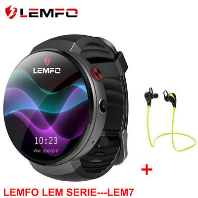 LEMFO LEM7 2018 Bluetooth Smart Watch Phone 4G WIFI 16GB GPS For Android iPhone