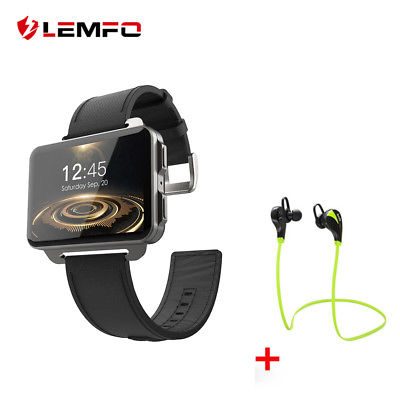 Lemfo LEM4 Pro 2018 Smart Watch Phone 3G SIM 2.2inch IPS 1/16GB For Android iOS
