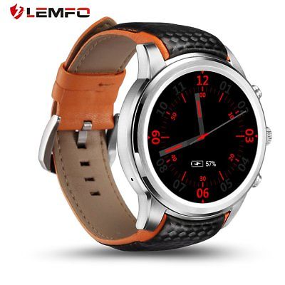 LEMFO LEM5 Bluetooth Wireless 1/8 GB Smart Watch GPS WiFi For Android iPhone OY