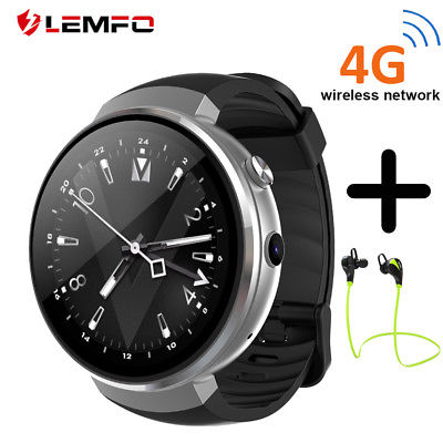 LEMFO LEM7 Bluetooth Smart Watch 2018 4G SIM Camera WIFI 16GB GPS Smartwatches