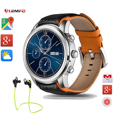 For IOS Android Lemfo LEM5 3G Data Bluetooth Wireless GPS SIM Smart Watch Phone