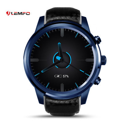 LEMFO LEM5Pro Bluetooth 16GB 3G SIM Smart Watch Phone GPS WiFi For Android iOS