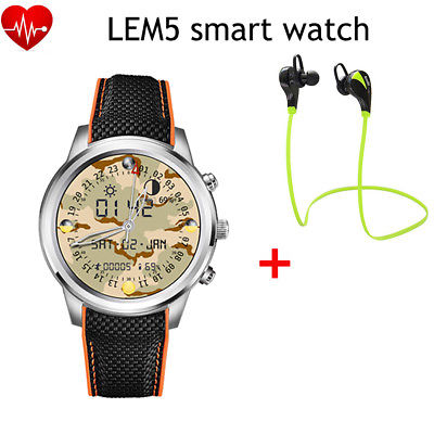 Lemfo LEM5 Bluetooth 3G SIM Google Play GPS WiFi Smart Watch Phone For Android