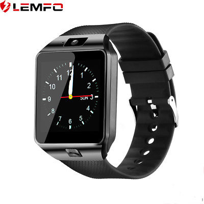 New LEMFO DZ09 Smart Watch Phone SIM Card Bluetooth Camera Pedometer For Android