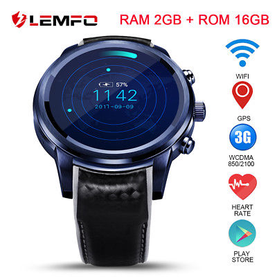 LEMFO LEM5 Pro Smart Watch 3G WiFi GPS 16GB Heart Rate Monitor For Android iOS