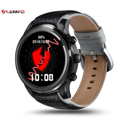 Lemfo LEM5 Bluetooth 3G Data 8GB SIM GPS WiFi Smart Watch Phone For IOS Android