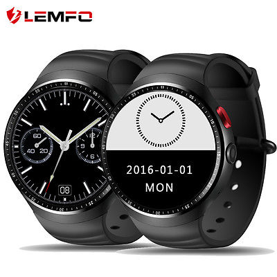 Lemfo LES1 Bluetooth Wireless 3G SIM GPS WiFi Smart Watch Phone For Android iOS