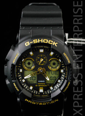 NEW WITH TAGS Casio Gshock X-Large Ana-Digi GA100GBX-1A9 BLACK GOLD Watch