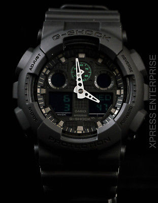 NEW WITH TAGS Casio Gshock X-Large Ana-Digi GA100MB-1A BLACK Watch