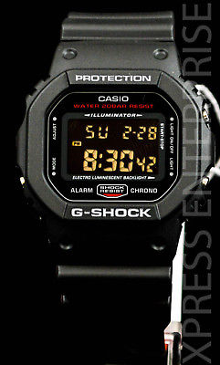 NEW WITH TAGS Casio Gshock Classic Digital DW5600HR-1 BLACK RED Watch