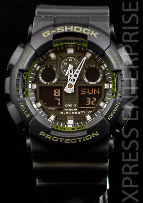 NEW WITH TAGS Casio Gshock X-Large Ana-Digi GA100L-1A BLACK Watch