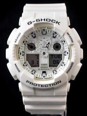 NEW WITH TAGS Casio Gshock X-Large Ana-Digi GA100MW-7A WHITE Watch