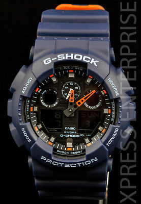 NEW WITH TAGS Casio Gshock X-Large Ana-Digi GA100L-2A BLUE Watch