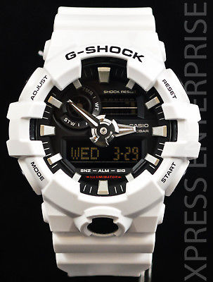 NEW WITH TAGS Casio Gshock X-Large Case Ana-Digi GA700-7A WHITE Watch