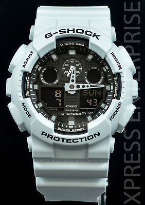 NEW WITH TAGS Casio Gshock X-Large Ana-Digi GA100L-7A WHITE Watch