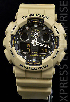 NEW WITH TAGS Casio Gshock X-Large Ana-Digi GA100L-8A SAND Watch