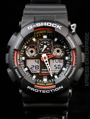 NEW WITH TAGS Casio Gshock X-Large Ana-Digi GA100-1A4 BLACK Watch