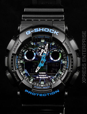 NEW WITH TAGS Casio Gshock X-Large Ana-Digi GA100CB-1A Camouflage BLACK Watch