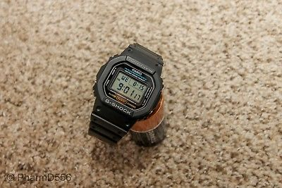 CASIO GSHOCK DW5600E-1V Mens Classic Black Resin Digital Chronograph Sport Watch