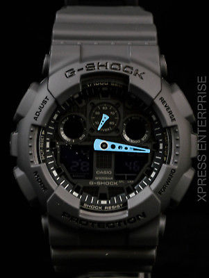 NEW WITH TAGS Casio Gshock X-Large Ana-Digi GA100C-8A GRAY Watch