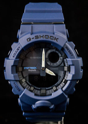 NEW WITH TAGS Casio Gshock G-SQUAD Step Tracker Bluetooth GBA800-2A BLUE Watch