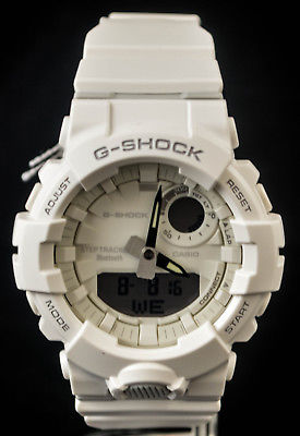 NEW WITH TAGS Casio Gshock G-SQUAD Step Tracker Bluetooth GBA800-7A WHITE Watch
