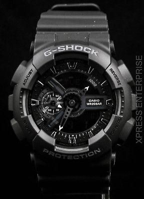 NEW WITH TAGS Casio Gshock X-Large Ana-Digi GA110-1B BLACK Watch