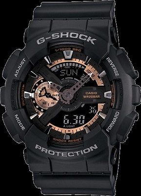 Casio G-Shock GA110RG-1A Black And Rose Gold Watch NEW With Tags