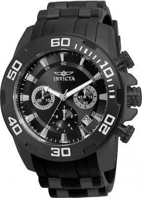 Invicta Men's 22338 Pro Diver Chronograph 50mm Black Dial Steel-Rubber Watch