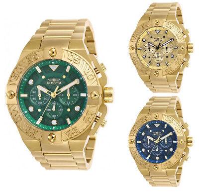 Invicta Men's Pro Diver Quartz Chrono 100m Gold Tone Stainless Steel Watch