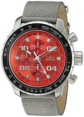 Invicta 18780 Aviator Men's 50mm Chronograph Stainless Steel Red Dial Watch