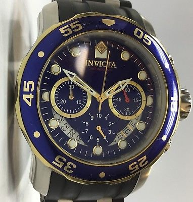 Invicta Pro Diver 22971 Men's 48mm Blue Dial Stainless Steel Chronograph Watch