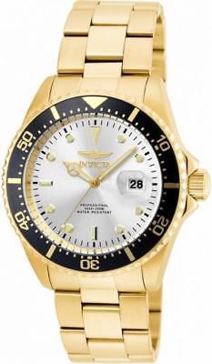 Invicta Pro Diver 22064 Men's Round Analog Date Silver & Gold Tone Watch