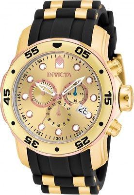 Invicta Men's Pro Diver Chronograph Two Tone S. Steel Polyurethane Watch 17884