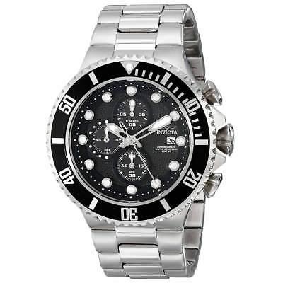 Invicta 18906 Gent's Quartz Black Dial Steel Bracelet Chrono Watch