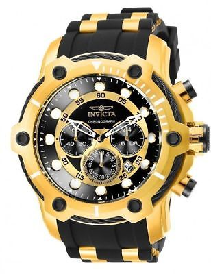 Invicta Men 26751 Bolt Quartz Chronograph Black Dial Watch Stainless Steel NWB!