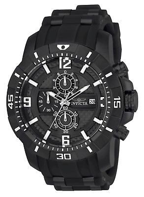 Invicta 24967 Men's Pro Diver Chrono Black Carbon Fiber Dial Watch