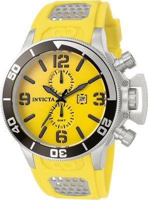 Invicta Corduba Mens Quartz 53mm Yellow Dial-Model 1054