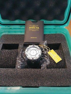 Invicta 24278 Mens 52mm SS Excursion TE Chrono Strap Watch and 3-Slot Dive Case