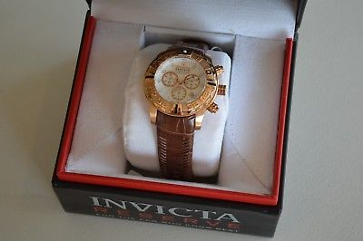 Pre-Owned Invicta Reserve Men's Watch Model 14293, Leather Strap, All Paperwork