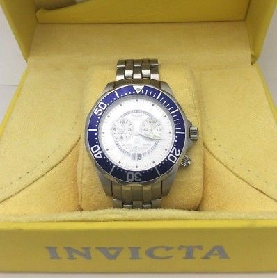 NEW INVICTA MEN'S GRAND DIVER STAINLESS STEEL WATCH MODEL # 3441 W/ BOX & MANUAL