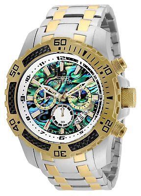 Invicta 25093 Pro Diver 51mm Quartz Chrono Rainbow Dial SS Two-Tone Men's Watch